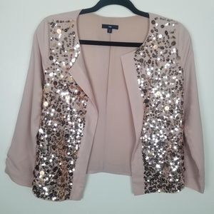 Gap - Blush Pink Sequined-Front Open Front Coverup